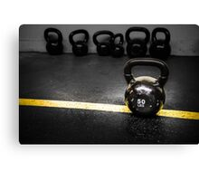 50 LBS Barbell Weight: For Strong People Canvas Print