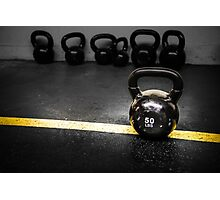 50 LBS Barbell Weight: For Strong People Photographic Print