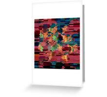Geometry Glitch n.8 Greeting Card
