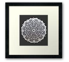 Peaceful Silver Symmetry Framed Print