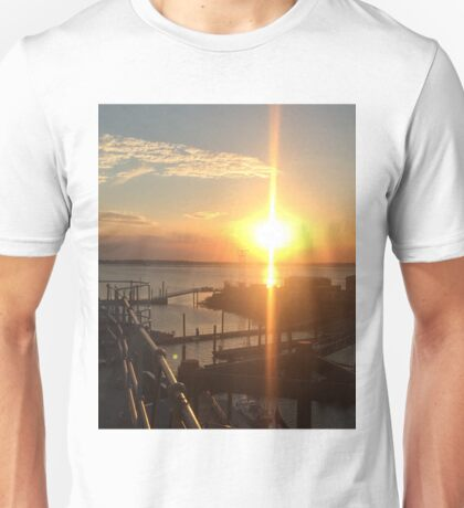 Sunset over HMS Bristol  Unisex T-Shirt