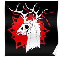 Ribbon Deer Poster
