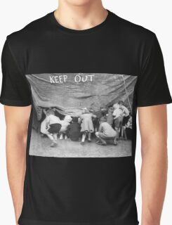 Keep Out - Vintage Photograph Graphic T-Shirt