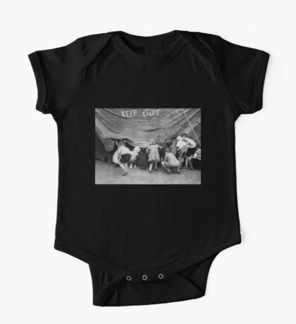 Keep Out - Vintage Photograph One Piece - Short Sleeve
