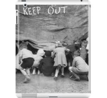 Keep Out - Vintage Photograph iPad Case/Skin