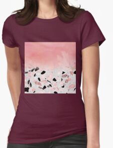 Modern abstract watercolor and marble design Womens Fitted T-Shirt