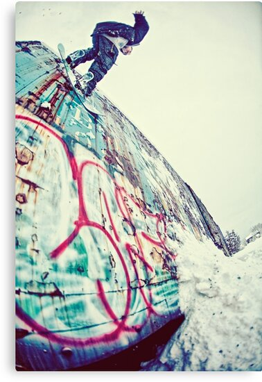 Urban Snowboarding in Plymouth by Katie Doner