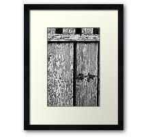 Peek-a-boo Black and White Framed Print