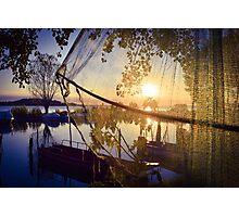 Sunset ...fishing! Photographic Print