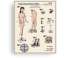 Barbie Doll Patent Canvas Print