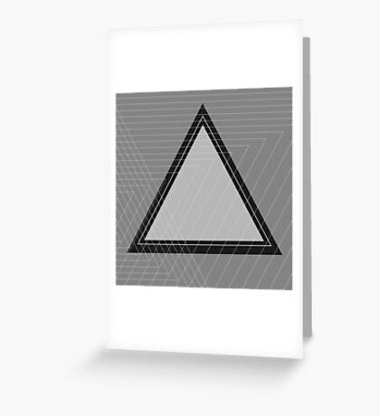 Grey Scale Triangle Greeting Card
