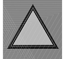 Grey Scale Triangle Photographic Print