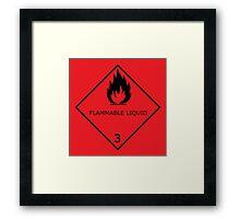 Flammable Liquid Sticker Framed Print