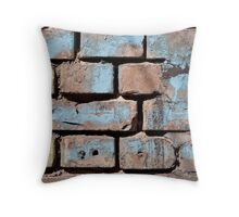 brick wall texture Throw Pillow