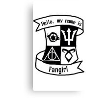 Fangirl Crest Thing Canvas Print