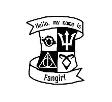 Fangirl Crest Thing Photographic Print