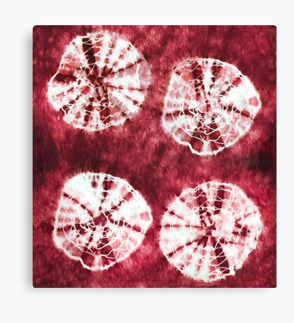 Abstract red tie dye Canvas Print