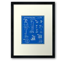 Barbie Doll Patent - Blueprint Framed Print