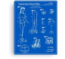 Barbie Doll Patent - Blueprint Canvas Print