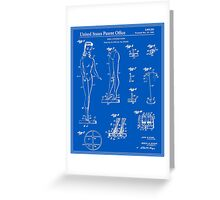 Barbie Doll Patent - Blueprint Greeting Card