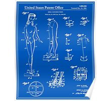 Barbie Doll Patent - Blueprint Poster