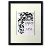 Cheshire Direction Framed Print