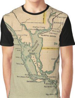 Vintage Map of Port Charlotte Florida (1896) Graphic T-Shirt