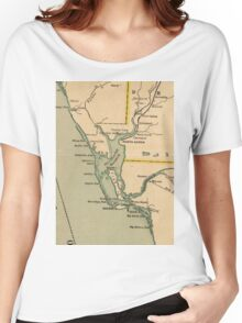 Vintage Map of Port Charlotte Florida (1896) Women's Relaxed Fit T-Shirt