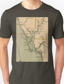 Vintage Map of Port Charlotte Florida (1896) Unisex T-Shirt