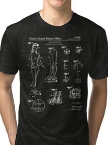 Barbie Doll Patent - Black Tri-blend T-Shirt