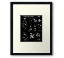 Barbie Doll Patent - Black Framed Print
