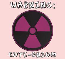 Warning - Super Cute Baby Radioactive Kids Tee