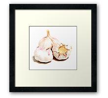Garlick - vampire savety Framed Print