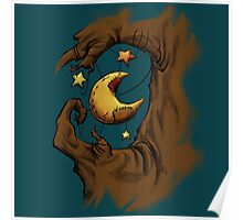 Tree with Moon and Stars on String Poster