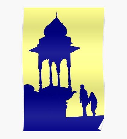 Mughal Silhouette Poster
