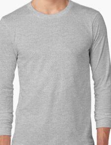 Round Maze - White Long Sleeve T-Shirt