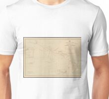 Vintage Hawaii Postage Route Map (1903) Unisex T-Shirt