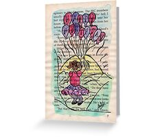 Happy Birthday Balloon Girl Greeting Card