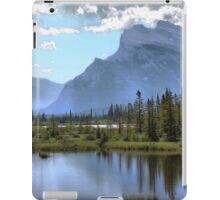 Vermillion Lake and Rundle Mountain iPad Case/Skin