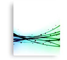 Black, Blue, & Green Ombre Canvas Print