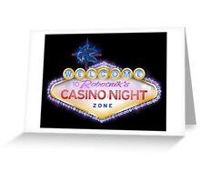 Casino Night Zone Greeting Card
