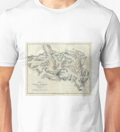 Vintage Map of Mount Everest (1921) Unisex T-Shirt
