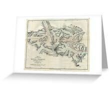 Vintage Map of Mount Everest (1921) Greeting Card