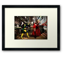 Rogue vs Ms Marvel Framed Print