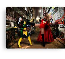 Rogue vs Ms Marvel Canvas Print