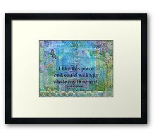Shakespeare humorous quote Framed Print