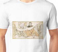 Vintage Map of Prince Edward Island (1775) Unisex T-Shirt