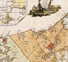 Vintage Map of Prince Edward Island (1775) Sticker