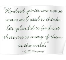 Kindred spirits are not so scarce as I used to think Poster