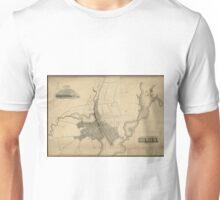 Vintage Map of Providence Rhode Island (1823) Unisex T-Shirt